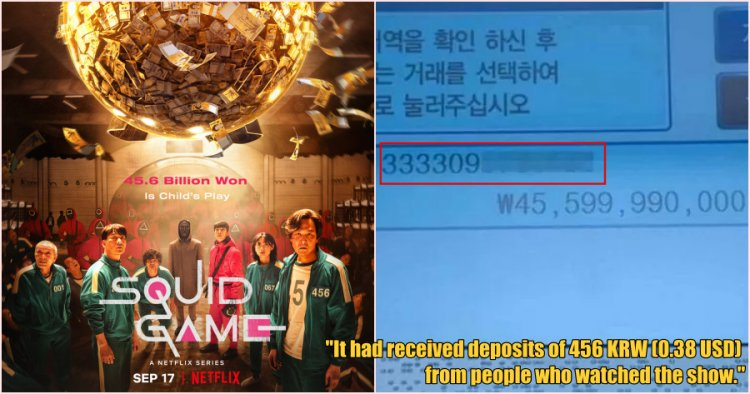 Fans are sending cash to bank account shown in Netflix popular series Squid Game